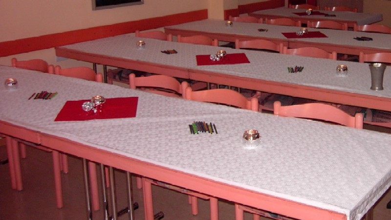 Prepared tables before classes begin